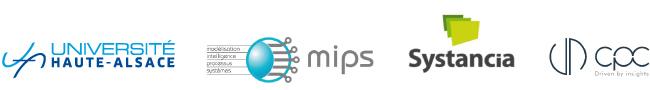 Logos des organisateurs et intervenants de la conférence Campus industrie 4.0 sur l'intelligence et le machine learning